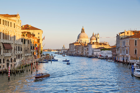 grande: Beautiful view of the Canal Grande  in Venice, Italy