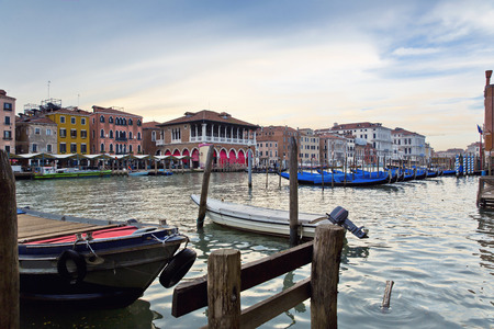grand canal: Beautiful view of a Grand Canal  in Venice, Italy