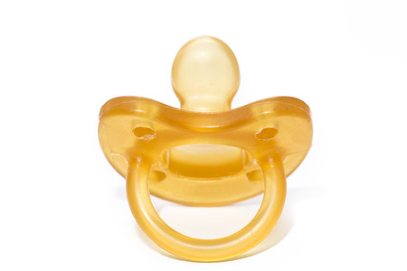 silicone: A silicone pacifier on a white background
