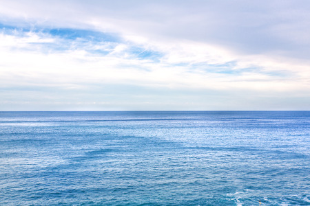 mondello: Sicilian Coastline in the morning. Deep blue sea. Lovely water at Mondello near Palermo in Italy