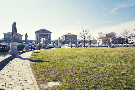 veneto: Fragment of Prato della Valle in Padua, Veneto, Italy. Stock Photo