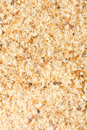 powdery: A macro close up of a bread crumbs
