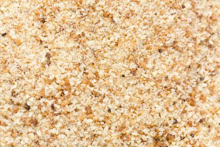 crumbs: A macro close up of a bread crumbs