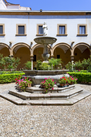 devotions: Cloister of St. Augustin church in Palermo