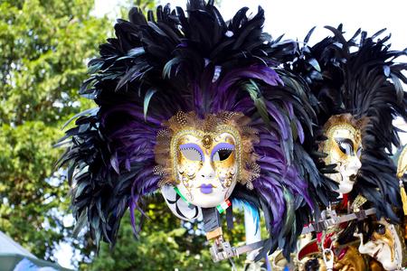 Venetian masks on sale in Venice, Italy
