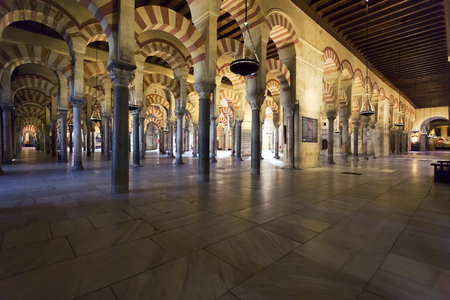 Inside the Grand Mosque Mezquita cathedral of Cordoba, Andalusia, Spain