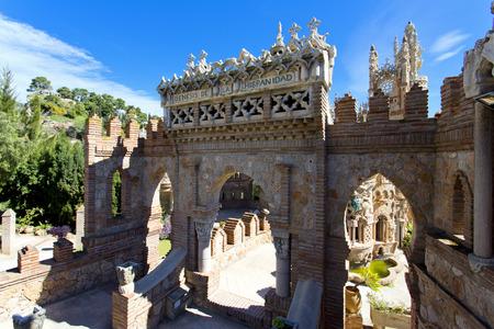 Colomares castle in memory of Christopher Colomb at Benalmadena in Spain