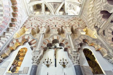 コルドバ、アンダルシア、スペインのグランド モスク メスキータ大聖堂内の王室礼拝堂 報道画像
