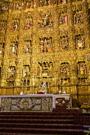 seville: Interior of the Cathedral of Saint Mary of the See in Seville, Andalusia, Spain
