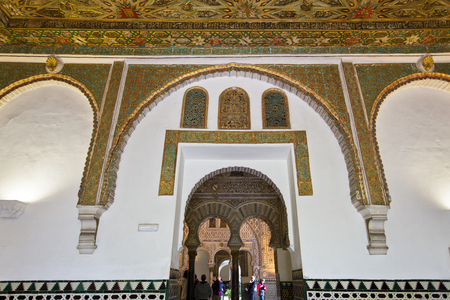 Real Alcazar in Seville. The famous Ambassadors room
