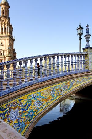 スペイン広場、エスパーナ広場、セビリア、アンダルシア、スペインの美しい景色