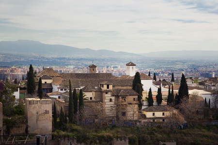 View of the Alhambra from Mirador de San Nicolas