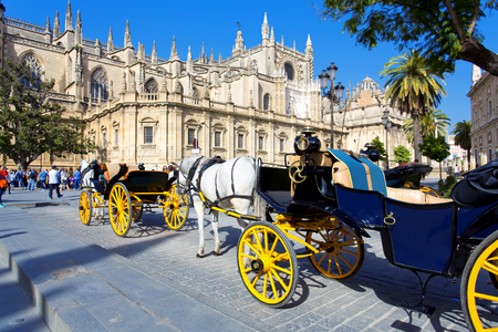 The Cathedral of Saint Mary of the See in Seville, Andalusia, Spain Editorial