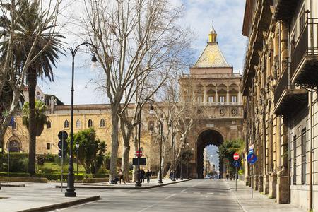 View of Porta Nuova in Palermo, Sicily