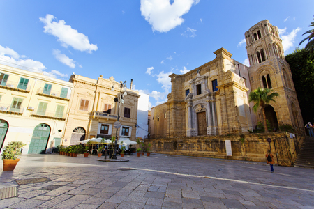 Beautiful view of Piazza Bellini in Palermo, Sicily Stockfoto