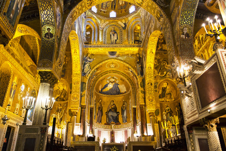 Interior of the Palatine Chapel of Palermo, Sicily Éditoriale