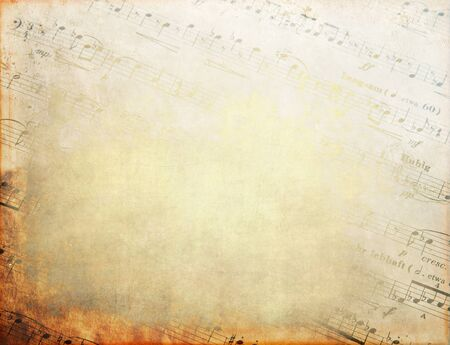 Detail of musical score, music sheet, textures, musical background