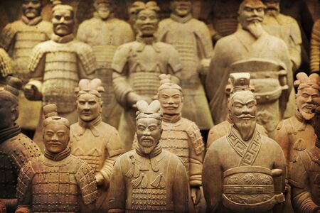 Schöne Aussicht auf die Terrakotta-Armee in Xian, China
