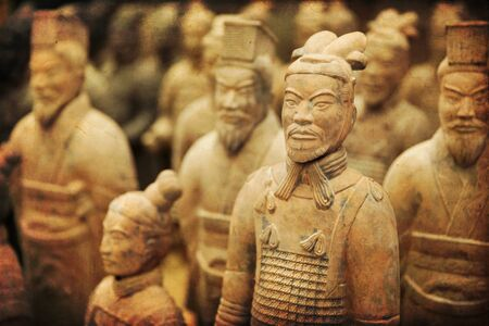 Beauriful view on the terracotta army in Xian, China