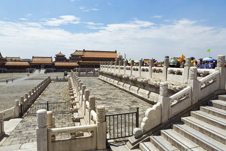 Beautiful view of the Forbidden City in Beijing, China