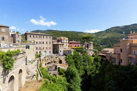 Tivoli, view of the Tempio della Sibilla in the park of Villa Gregoriana Archivio Fotografico