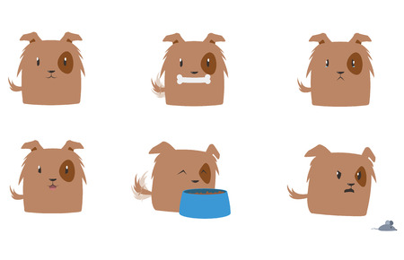 Cute Dog Vector Set