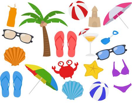 Zomer, vakantie, strand Clipart