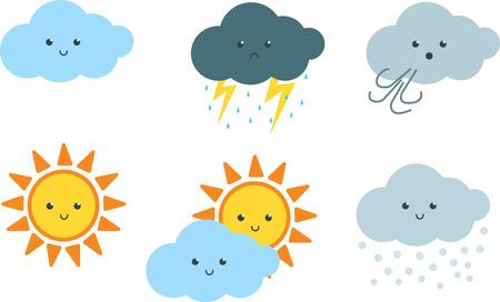 Weather Cute Cartoon Clip