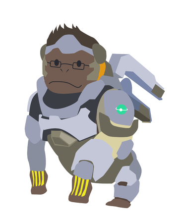 Overwatch Winston Clipart Stock Illustratie