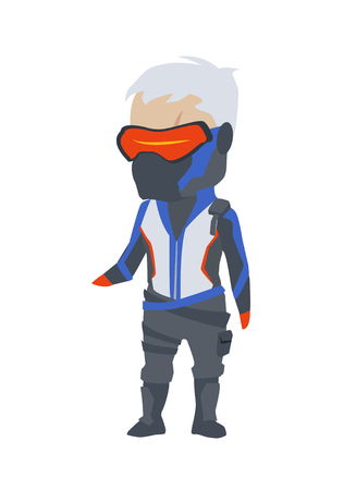 Overwatch Soldier76 Clipart Фото со стока - 84919296