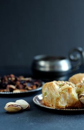 baklava: Baklava - traditional eastern delicacy Stock Photo