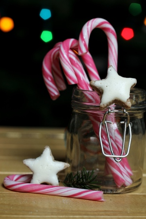 christmas candies: Christmas candies in a jar glas