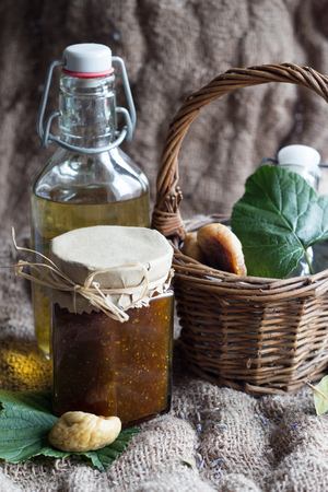 cordial: lavender syrup and fig jam