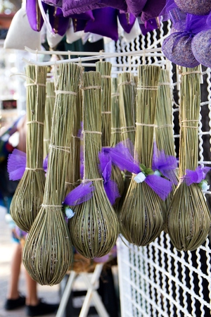 traditionalon lavender spindles the market in Croatia