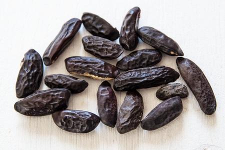 tonka bean isolate on white
