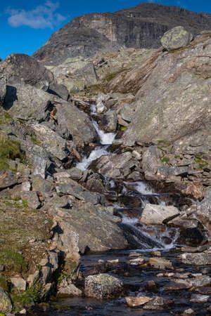 wild mountain stream in northern lapland