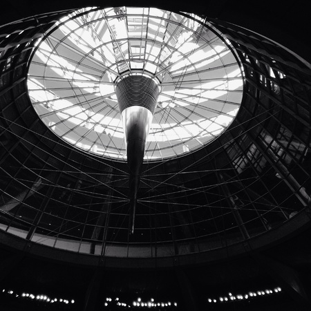 white: Black and white dome Stock Photo