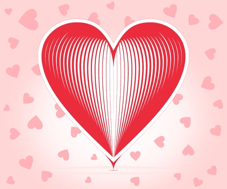 felicitate: Hearts united in one heart to heart pink background