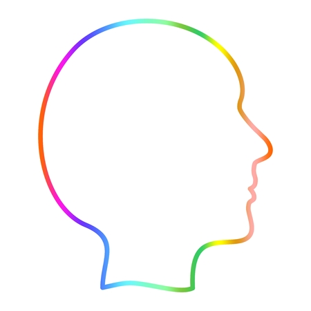 coloration: Coloration human face on a white background Illustration