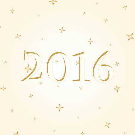 date night: 2016 gold lettering on a gold background with gold stars
