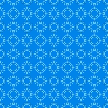 segments: The pattern of light blue circular segments on a dark blue background