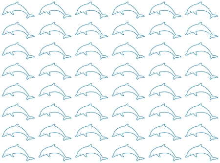 contours: Dolphin background of blue contours jumping dolphin on a white background