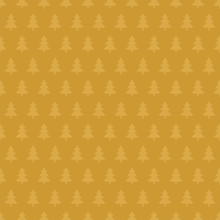 Golden Christmas background with lighter golden Christmas trees in a row in turn on a darker golden background