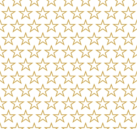 contours: Background of contours gold stars in a row alternately on a white background