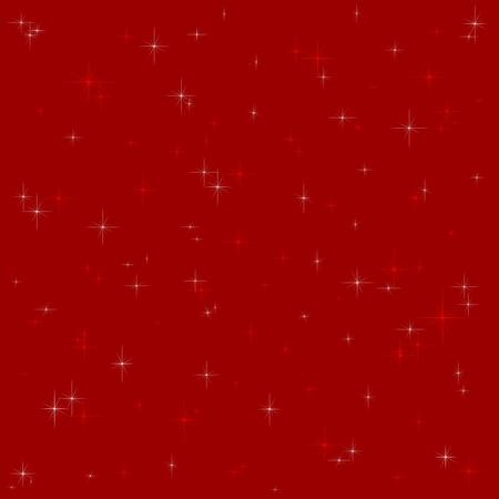 glistening: Dark red background with glistening white and red stars