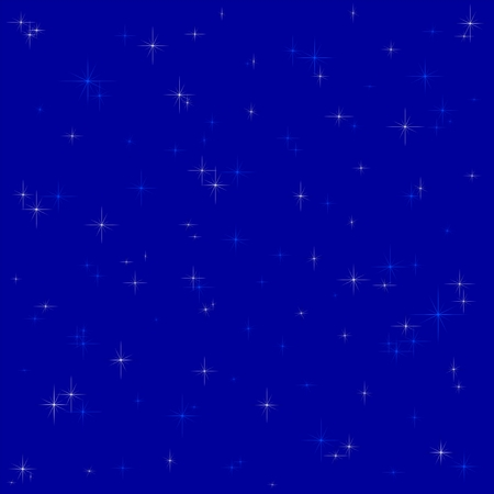 glistening: Dark blue background with glistening white and blue stars