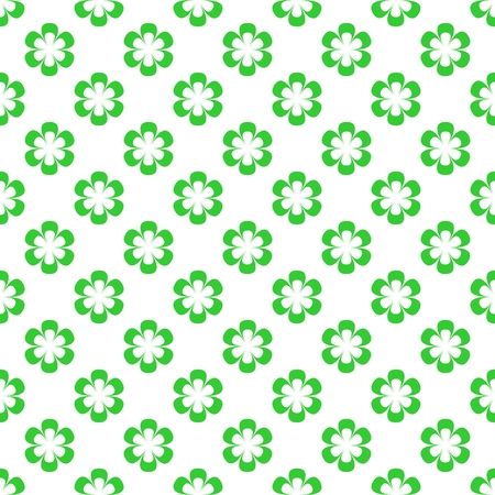sample environment: Background of green flowers in a row and under each other alternately on a white background