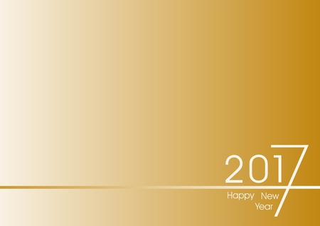bottom line: Golden New Year Greetings for 2017 with white number 2017 right down to the bottom line of gold on a gold background