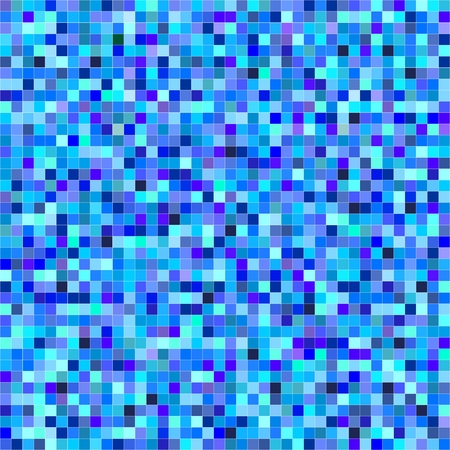 Blue background consisting of blue pixels of different colors with white outlines. Background of blue squares in a row and the rowwith white outlines.