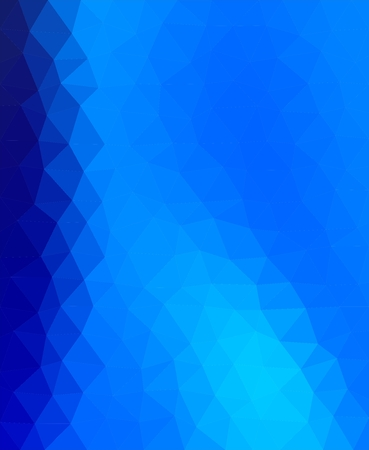 stacked: Blue background of dark and light blue triangles. Mosaic backdrop of geometric shapes. Abstract stacked pattern